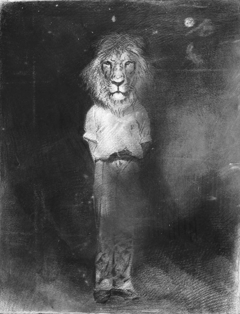 Antonio Pulvirenti, Pantera Leo 6, 2016, charcoal on paper, 65 x 50 cm
