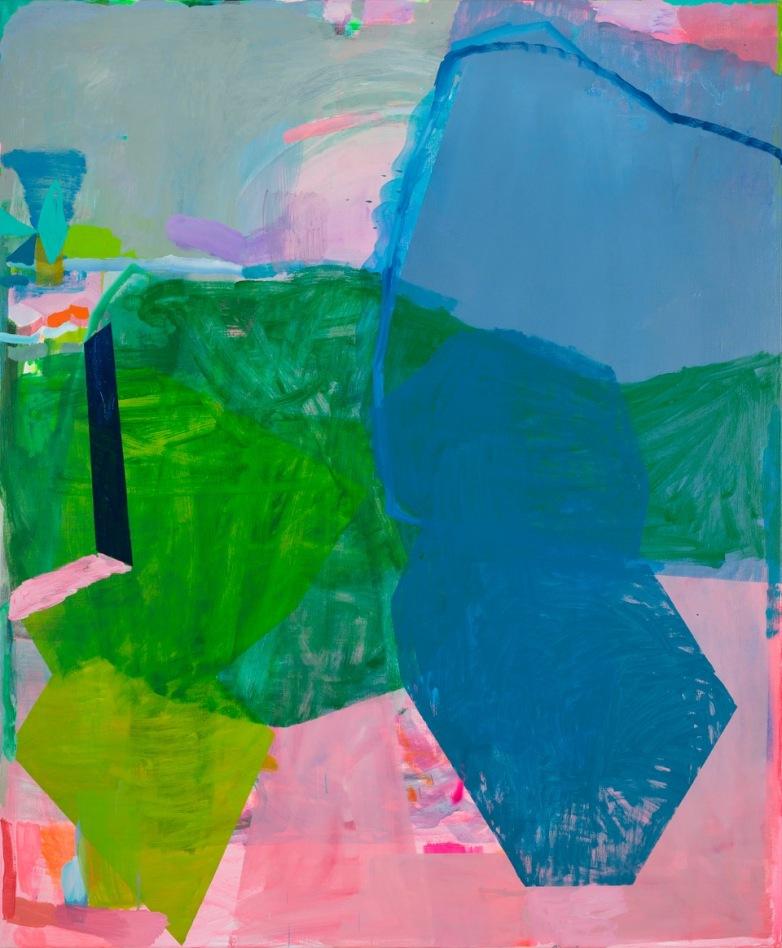 Miranda Skoczek, Fields (detail), oil and acrylic on linen, 186 x 156 cm