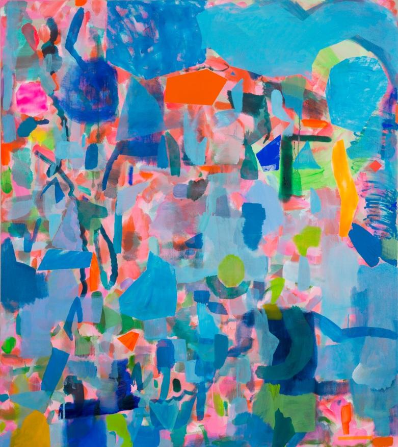 Miranda Skoczek, Fragments II, oil and acrylic on linen, 152 x 137 cm