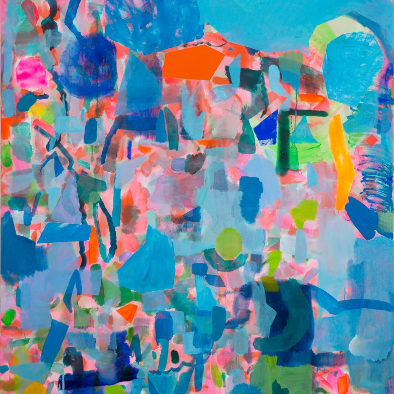 Miranda Skoczek, Fragments II, oil and acrylic on linen, 152 x 137 cm