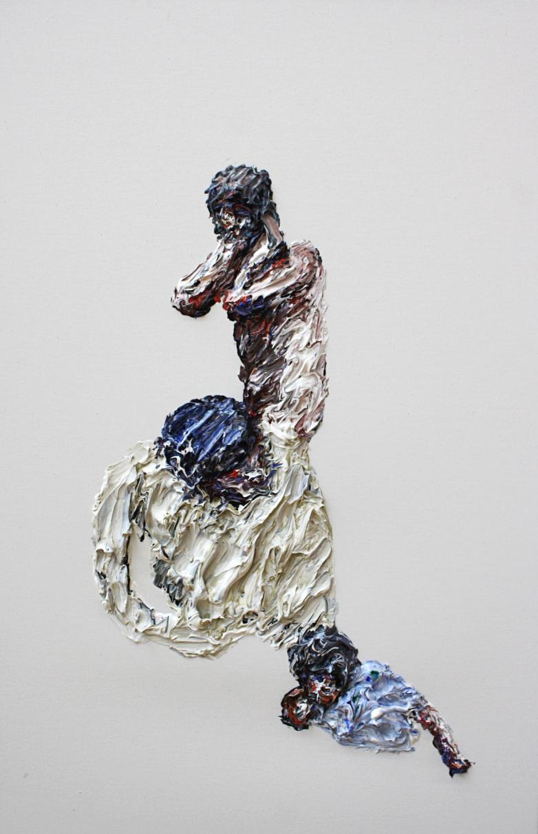 Clemens Krauss, Dissent Disorder, 2015, oil on canvas, 111 cm x 71 cm